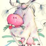 "Illustration""Die Kuh"""